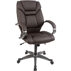 Lichfield Brown Enviro Leather Chair £164 - Office Chairs