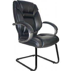 Lichfield Enviro Leather Cantilever Chair £164 - Office Chairs