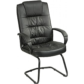 Acadia Enviro Leather Cantilever Chair £139 - Office Chairs