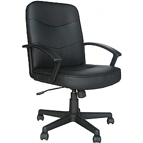 Albertine Enviro Leather Chair £108 - Office Chairs