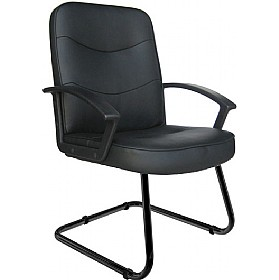 Albertine Enviro Leather Cantilever Chair £108 - Office Chairs