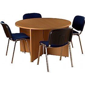 bundle deal round meeting table with 4 chairs meeting