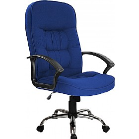 Cadiz Chrome Fabric Manager Chairs £79 - Office Chairs