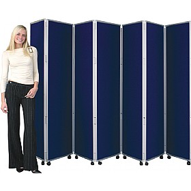 Concertina 7 Panel Mobile Display & Room Dividers £407 - Display/Presentation