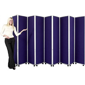 Concertina 9 Panel Mobile Display & Room Dividers £565 - Display/Presentation