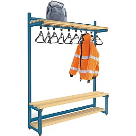 Hanging Cloakroom Hook Benches £346 - Education Furniture