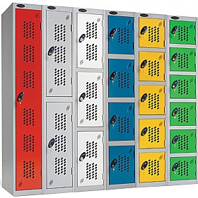 Perforated Door Lockers With Active Coat £0 -