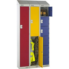 Sloping Top Metric Lockers With Biocote £0 - Education Furniture