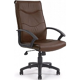 Farnborough Leather Faced Manager Chair Brown £92 - Office Chairs