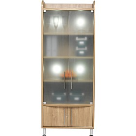 Trilogy Tall Wide Glass Storage Unit £681 - Meeting Room Furniture