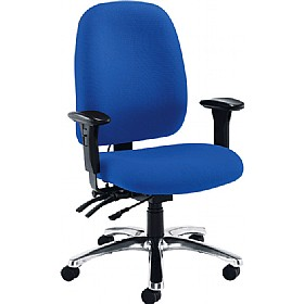 Vista 24 Hour High Back Chrome Operator Chair £282 - Office Chairs
