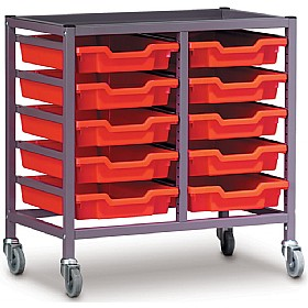 Gratnells Double Column 10 Tray Storage Trolley £0 - Education Furniture