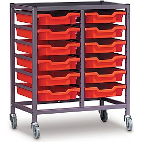 Gratnells Double Column 12 Tray Storage Trolley £0 - Education Furniture