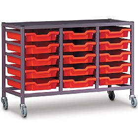 Gratnells Triple Column 15 Tray Storage Trolley £0 - Education Furniture