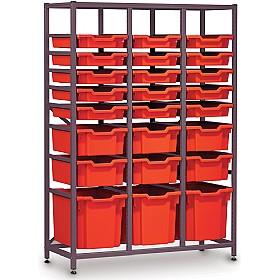 Gratnells 3 Column Midi 24 Tray Storage Rack £0 - Education Furniture  sc 1 st  Office Furniture Online & Gratnells 3 Column Midi 24 Tray Storage Rack | Gratnells Tray ...