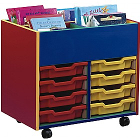 Multi Coloured 8 Tray Shallow Mobile Kinderbox £0 - Education Furniture