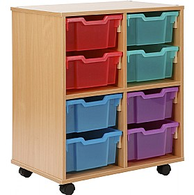Storage allsorts 8 deep jelly tray unit deep tray storage Home and furniture allsorts