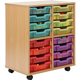 Storage Allsorts 16 Shallow Jelly Tray Unit £184 - Education Furniture