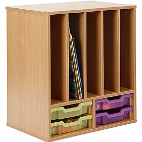 Storage Allsorts Big Book 4 Shallow Jelly Tray Unit £0 - Education Furniture