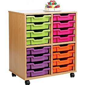 Storage Allsorts 16 Shallow Tray Unit £0 - Education Furniture