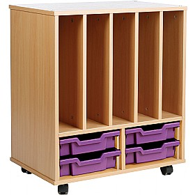 Storage Allsorts Big Book 4 Shallow Tray Unit £0 - Education Furniture