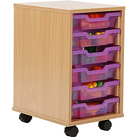 6 Tray Shallow Jelly Bean Storage £0 - Education Furniture