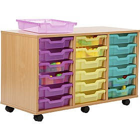 18 Tray Shallow Jelly Bean Storage £0 - Education Furniture