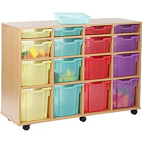 16 Tray Variety Jelly Bean Mobile Storage £0 - Education Furniture