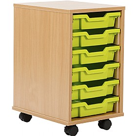 6 Tray Shallow Storage Brights £84 - Education Furniture