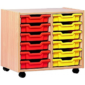 12 Tray Shallow Storage £0 - Education Furniture