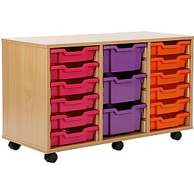 18 Tray Shallow Storage Brights £0 - Education Furniture