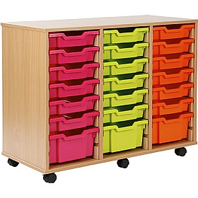 24 Tray Shallow Storage Brights £0 - Education Furniture