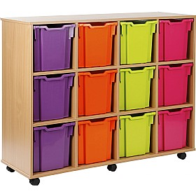 12 Tray Jumbo Storage Brights £0 - Education Furniture