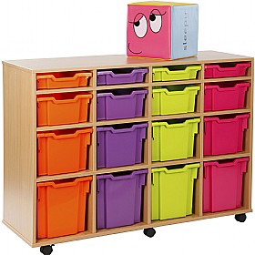 16 Tray Variety Storage Brights £0 - Education Furniture