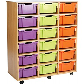 18 Tray Deep Storage Brights £318 - Education Furniture