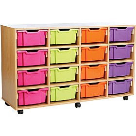 16 Tray Deep Storage Brights £0 - Education Furniture