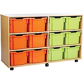 12 Tray Extra Deep Storage Brights £0 - Education Furniture
