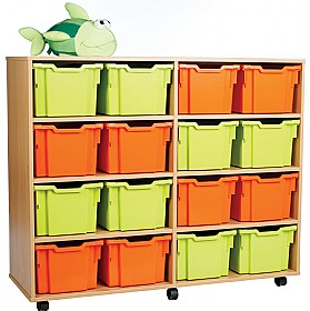 16 Tray Extra Deep Storage Brights £337 - Education Furniture