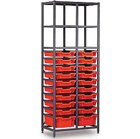 Gratnells 2 Column High 20 Tray Storage Rack £371 - Education Furniture