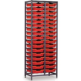 Gratnells 2 Column High 34 Tray Storage Rack £0 -