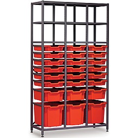 Gratnells 3 Column High 24 Tray Storage Rack £0 - Education Furniture