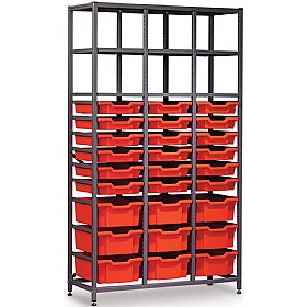 Gratnells 3 Column High 27 Tray Storage Rack £0 - Education Furniture