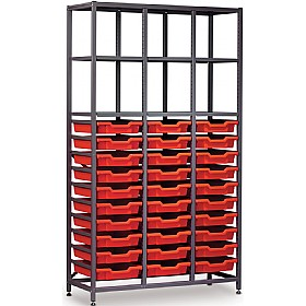 Gratnells 3 Column High 30 Tray Storage Rack £499 - Education Furniture