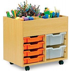 art storage 6 tray kinderbox unit art crafts storage. Black Bedroom Furniture Sets. Home Design Ideas