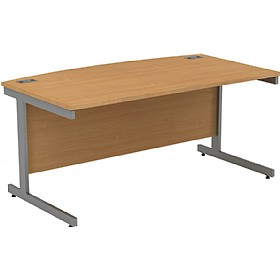 Alpha Plus Bow Front Rectangular Desk £266 - Office Desks