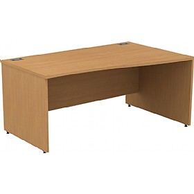 Alpha Plus Panel End Wave Desk £188 - Office Desks