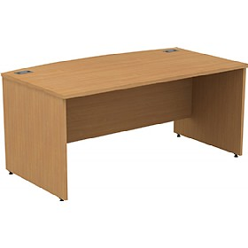 Alpha Plus Panel End Bow Front Rectangular Desk £271 - Office Desks