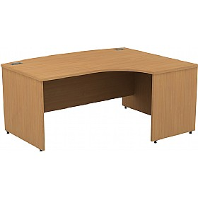 Alpha Plus Panel End Bow Front Ergonomic Desk £419 -