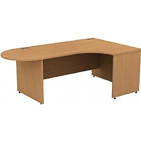 Alpha Plus Panel End Executive Radial D-End Desk £419 - Office Desks