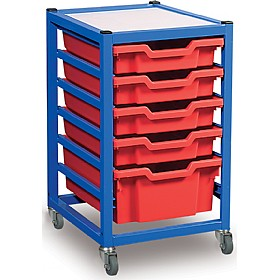 Gratnells Single Column Classroom Trolley £122 - Education Furniture